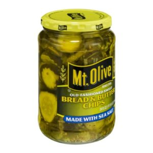 Mt. Olive Bread & Butter Chips Made with Sea Salt 24 Oz (Pack of 1)
