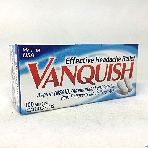 Vanquish Pain Reliever, 100 Caplets Each (4 Pack)