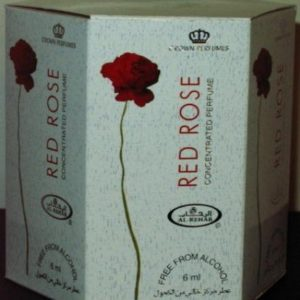 Red Rose - 6ml (.2oz) Roll-on Perfume Oil by AlRehab (Box of 6)