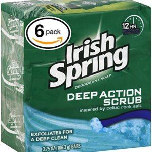 Irish Spring Bar Soap (6 Bars, 3.75oz / 106.3gr Each Bar, Moisture Blast)