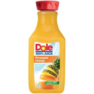 DOLE 100 % JUICE PINEAPLLE ORANGE BANANA 2 PK - 59 FL OZ BOTTLES