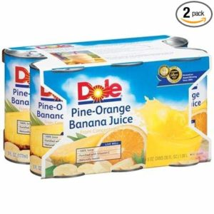 Dole Pine-Orange Banana Juice 6-6 Oz Cans (Pack of 2)