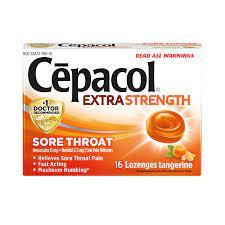 Cepacol Lozenges Extra Strength Orange