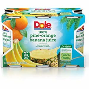 Dole Pine-Orange Banana Juice, 6 Count (Pack of 8)