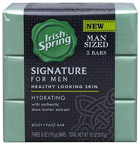 Irish Spring Signature for Men Hydrating Bar Soap - 6 ounce (3 Count)