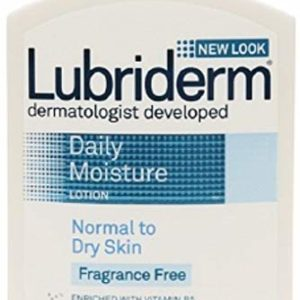 Lubriderm Daily Moisture Lotion Fragrance Free 16 oz (Pack of 8)