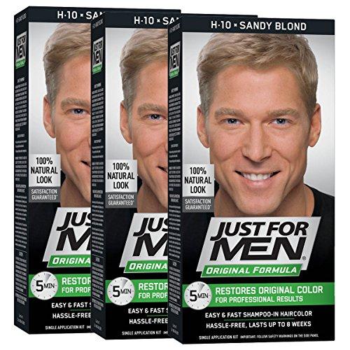 Just For Men Original Formula Men's Hair Color, Sandy Blond(Pack of 3)