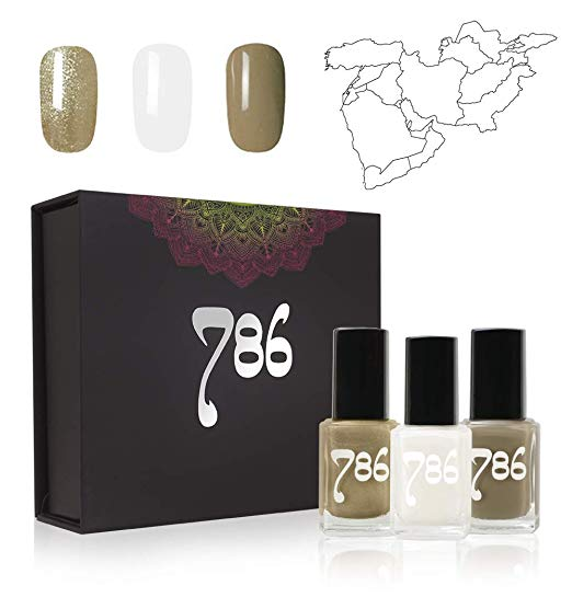 786 Cosmetics Middle East-Inspired Nail Polish Set - 3 Nail Polishes