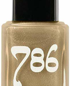 786 Cosmetics Dubai - (Gold) Vegan Nail Polish, Cruelty-Free, 11-Free, Halal Nail Polish, Fast-Drying Nail Polish, Best Gold Nail Polish