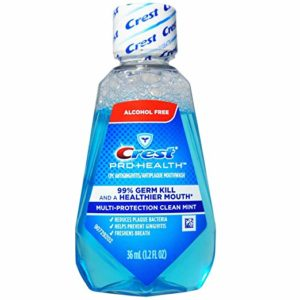 Crest Pro-Health Mouthwash, Alcohol Free, Multi-Protection Clean Mint 1.22 oz (Pack of 4)