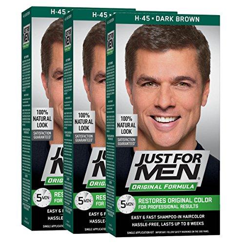 Just For Men Original Formula Men's Hair Color, Dark Brown (Pack of 3)
