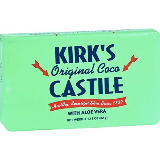Kirks Natural Bar Soap - Coco Castile - Aloe Vera - Travel Size - 1.13 oz (Pack of 2)