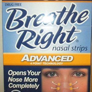 Breathe Right Advanced, Clear Nasal Strips, 10 Strips (1 Box)