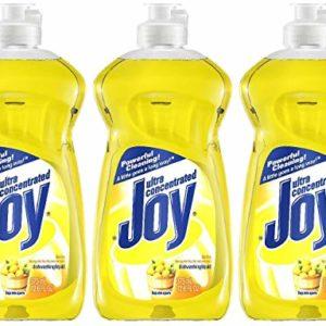 Joy Ultra Dishwashing Liquid, Lemon Scent, 12.6 oz-3 pk