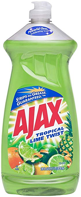 Ajax Dishwashing Liquid, Tropical Lime Twist, 28 Ounce
