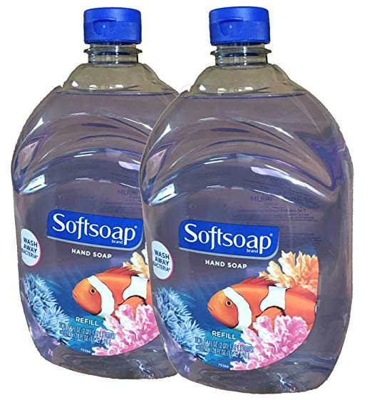 Softsoap Liquid Hand Soap, Aquarium Series, 64-Ounce Refill Bottle, Pack of 2
