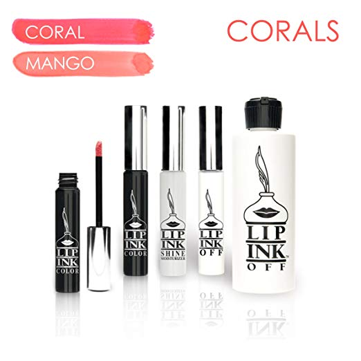 Lip Ink 100% Smearproof Vegan Liquid Lip Kit - Corals