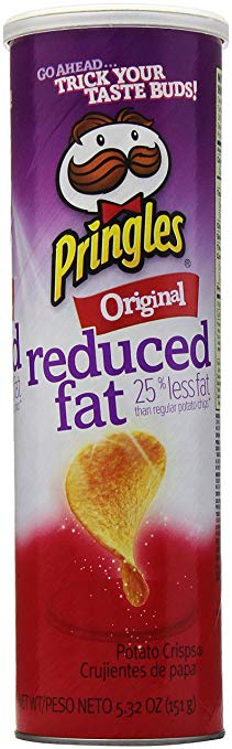 Pringles Reduced Fat Original Potato Chips, 5.32 oz
