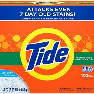 Tide Powder Laundry Detergent, Mountain Spring, 102 Loads 143 oz