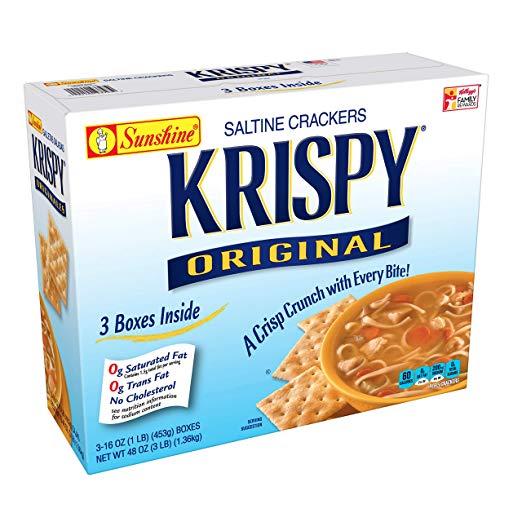 Krispy, Saltine Crackers, Original, 48 oz (3 Count)