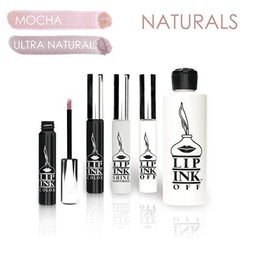 Lip Ink 100% Smearproof Vegan Liquid Lip Kit - Naturals