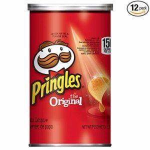 Pringles Potato Crisps Chips, Original Flavored, Grab and Go, 28.3 oz Box (12 Cans)