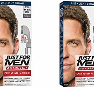 Just For Men Light Brown A-25 Autostop Formula 1.2 Ounce (Pack of 2)