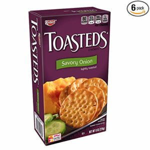 Keebler, Toasteds, Crackers, Savory Onion, 8 oz Box(Pack of 6)