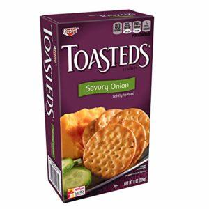 Keebler, Toasteds, Crackers, Savory Onion, 8 oz Box