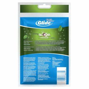 Oral-B Complete Glide Dental Floss Picks Plus Scope Outlast, Long Lasting Mint, 75 Dental Floss Picks, Pack of 6