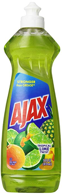 Ajax Dishwashing Liquid, Tropical Lime Twist, 12.6 Ounce