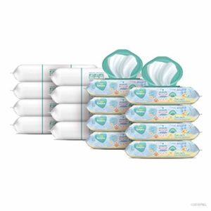 Pampers Complete Clean Scented Baby Wipes, 16 Pop-Top and Refill Combo Packs, 1152 Count