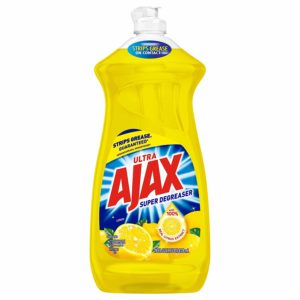 Ajax Dishwashing Liquid Dish Soap, Super Degreaser, Lemon - 28 fluid ounce