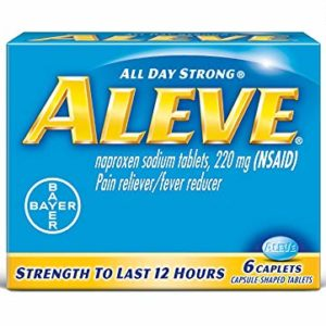 Aleve Caplets with Naproxen Sodium, 220mg Pain Reliever / Fever Reducer, 6 Count (Pack of 6)