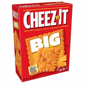 Cheez-It Baked Snack Cheese Crackers, Big Original, 11.7 oz Box