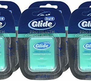 Oral-B Glide Pro-Health Comfort Plus Dental Floss, Mint, 43.7-Yard Dispenser, (Pack of 6)