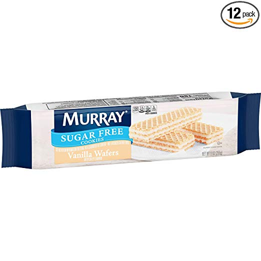 Murray Sugar Free Cookies, Vanilla Wafers, 9 oz Sleeve(Pack of 12)