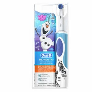 Oral-B Kids Electric Rechargeable Power Toothbrush Featuring Disney's Frozen, includes 2 Sensitive Brush Heads, Powered