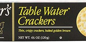 Carrs Table Water Crackers, 4.25 Ounce Package (Pack of 6)