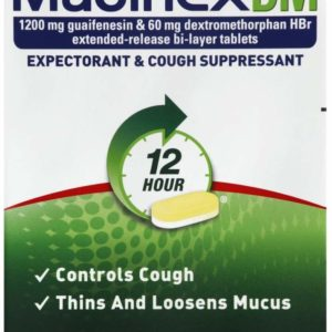 12 Hr Max Strength Expectorant & Cough Suppressant Tablets, 14ct
