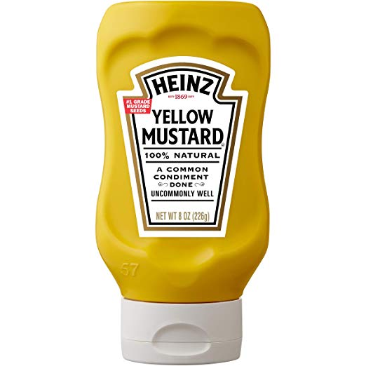 Heinz Yellow Mustard, 8 oz Bottle