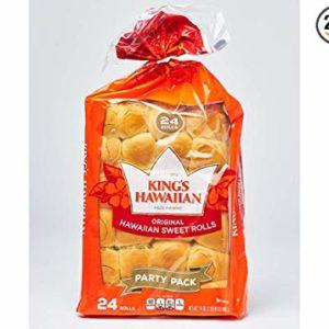 Kings Hawaiian Sweet Dinner Roll, 24 Ounce -- 240 per case.