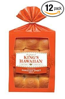 King's Hawaiian Original Hawaiian Sweet Dinner Rolls (12 x 12 packs per case)