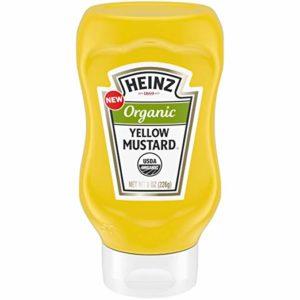 Heinz Organic Yellow Mustard, 8 oz Bottle