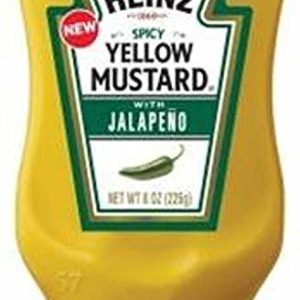Heinz Spicy Yellow Mustard with Jalapeno (8oz Bottles, Pack of 6)
