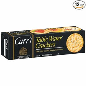 Carrs Table Water Cracker, 4.25 Ounce - 12 per case.