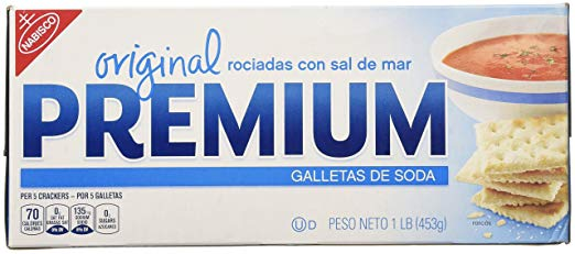 Nabisco, Premium, Sea Salt Topped Original Saltine Crackers, 16oz Box (Pack of 2)