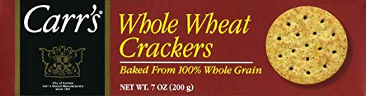 Carr's Whole Wheat Crackers, 7 Ounce