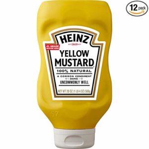 Heinz Yellow Mustard (20oz Bottles, Pack of 20)