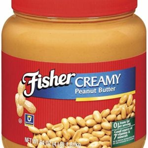 Fisher Natural Peanut Butter Creamy, 35-Pound Pail